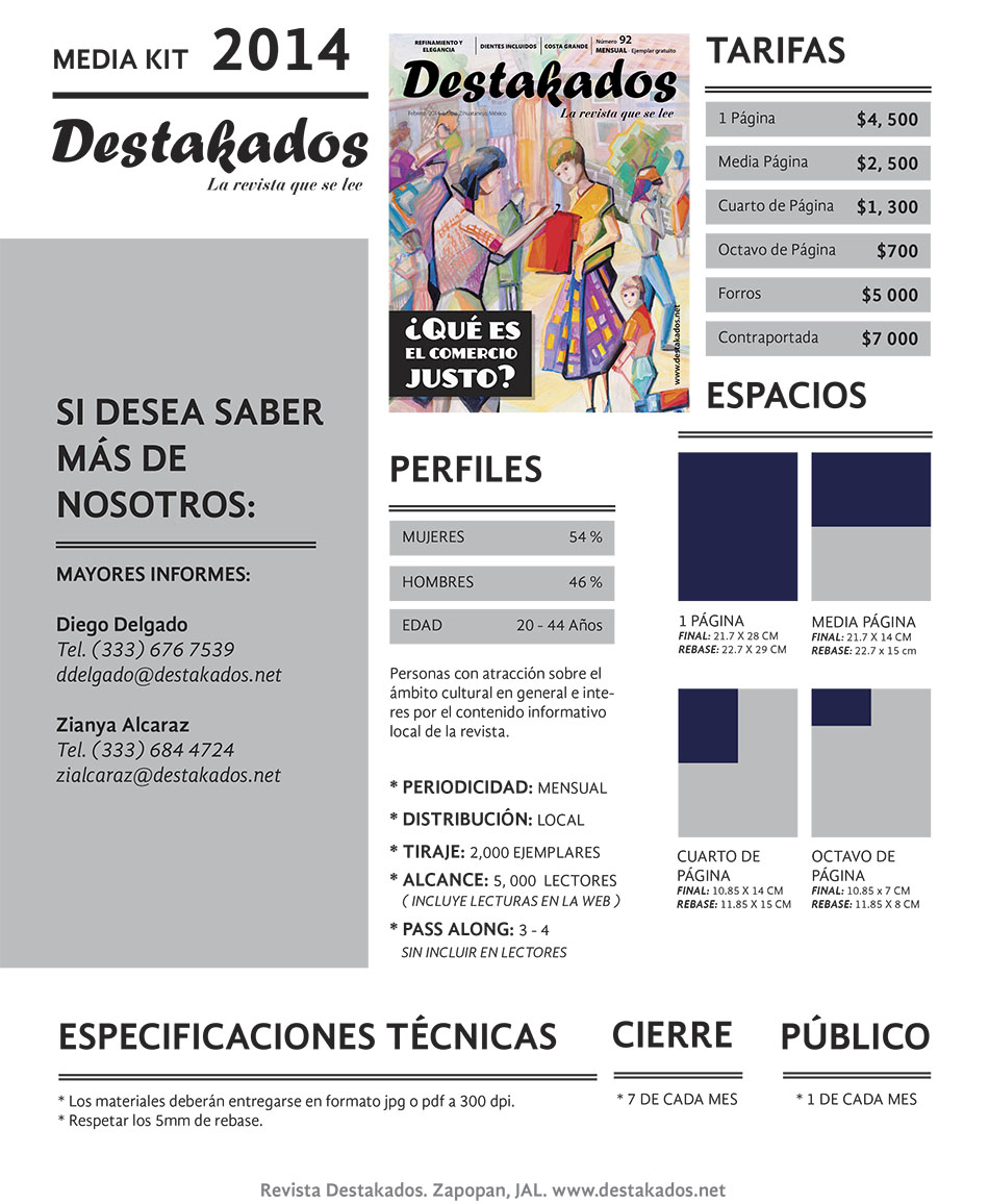 MEDIA KIT Destakados Zapopan